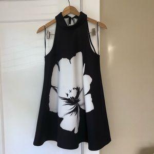 Topshop Flower A-line Swing Dress, 4